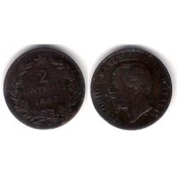 (2.1) Italia. 1867M. 2 Centesimi (BC)