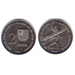 (46) Andorra. 1987. 1 Diner (SC)