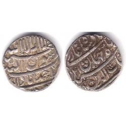 India (Imperio Mogol). 1039/1042AH. 1 Rupee (MBC+) (Plata)