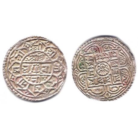 (502.2) Nepal. SE1713(1791). Mohar (EBC-) (Plata)