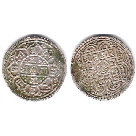(502.2) Nepal. SE1716(1794). Mohar (BC+) (Plata)