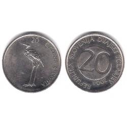 (51) Eslovenia. 2004. 20 Tolarjev (EBC)