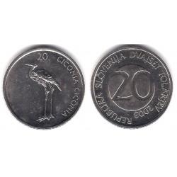 (51) Eslovenia. 2003. 20 Tolarjev (EBC)