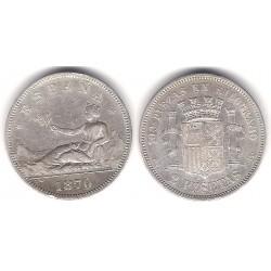 Gobierno Provisional. 1870*(18-73). 2 Pesetas (MBC) (Plata) Ceca de Madrid DE-M
