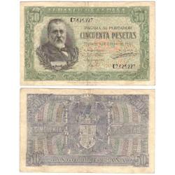 Estado Español. 1940. 50 Pesetas (BC+) Serie E