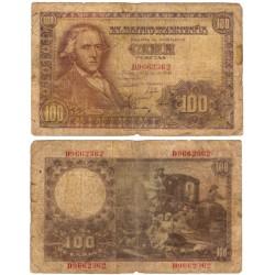 Estados Español. 1948. 100 Pesetas (RC) Serie D. Roturas