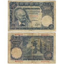 Estado Español. 1951. 500 Pesetas (RC) Serie B. Roturas