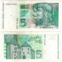 (28a) Croacia. 1993. 5 Kuna (MBC-)