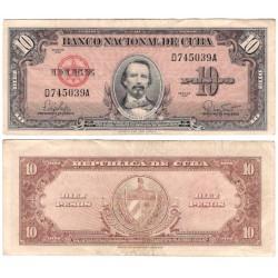 (79b) Cuba. 1960. 10 Pesos (BC)