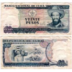 (110a) Cuba. 1991. 20 Pesos (BC)