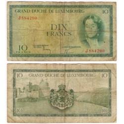 (48a) Luxemburgo. 1954. 10 Francs (BC-)