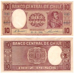 (103) Chile. 1946. 10 Pesos (MBC)