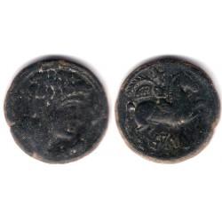 Salduie (Zaragoza). 120-30 a.C. As (MBC)
