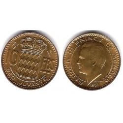 (130) Mónaco. 1951. 10 Francs (SC)
