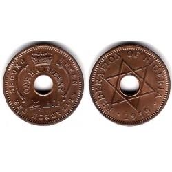 (1) Nigeria. 1959. ½ Penny (SC)