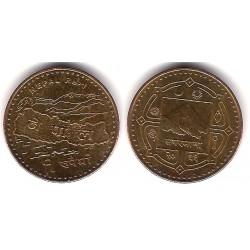 Nepal. 2009(2066). 1 Rupee (EBC)