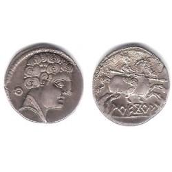 Arecoratas (Soria). 120-20 a.C. Denario (EBC) (Plata)