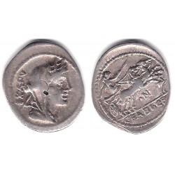 Gens Fabia. 104 a.C. Denario (MBC+) (Plata)