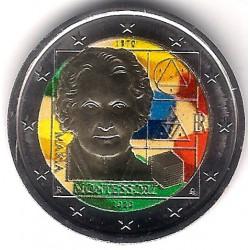 Italia. 2020. 2 Euro (SC) Coloreada