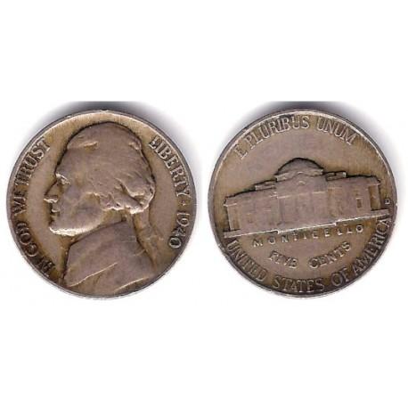 (192) Estados Unidos de América. 1940. 5 Cents (BC)
