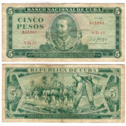(103c) Cuba. 1987. 5 Pesos (BC)