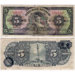 (34h) Estados Unidos Mexicanos. 1946. 5 Pesos (BC)