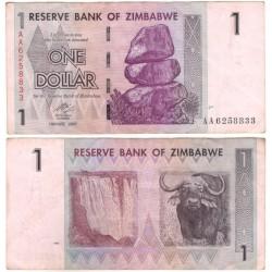 (65) Zimbabue. 2007. 1 Dollar (MBC)