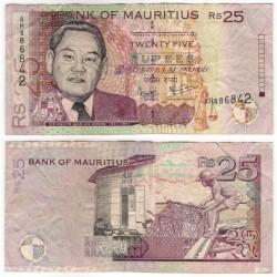 (49a) Mauricio. 1999. 25 Rupees (BC)