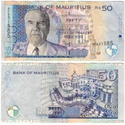 (50b) Mauricio. 2001. 50 Rupees (MBC)