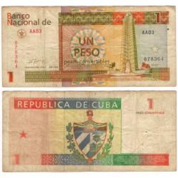 (FX37) Cuba. 1994. 1 Peso Convertible (BC)