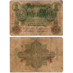 (26b) Imperio Alemán. 1906. 50 Mark (RC) Roturas