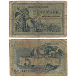 (8b) Imperio Alemán. 1904. 5 Mark (RC) Roturas