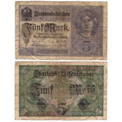 (56b) Imperio Alemán. 1917. 5 Mark (RC)
