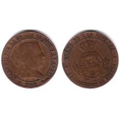 Isabel II. 1868. 2½ Céntimos de Escudo (BC) VARIANTE