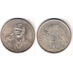 (483.1) Estados Unidos Mexicanos. 1977. 100 Pesos (SC) (Plata)
