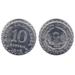(44) Indonesia. 1979. 10 Rupiah (EBC+)