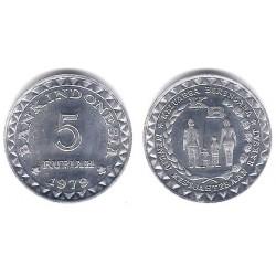 (43) Indonesia. 1979. 5 Rupiah (SC)
