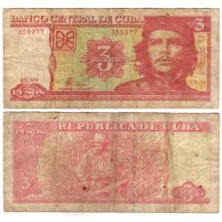 (127a) Cuba. 2004. 3 Pesos (BC-)
