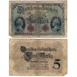 (47b) Imperio Alemán. 1914. 5 Mark (RC) Roturas