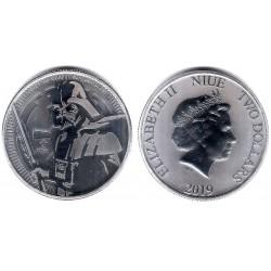 Niue. 2019. 2 Dollars (Proof) (Plata) Darth Vader