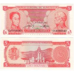 (70b) Venezuela. 1989. 5 Bolivares (EBC+)