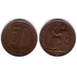 España (II República). 1937*(3-6). 50 Céntimos (MBC+)