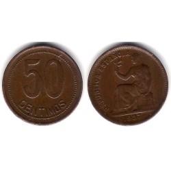 España (II República). 1937*(--4). 50 Céntimos (MBC-)