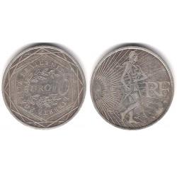 Francia. 2009. 10 Euro (BC+) (Plata)