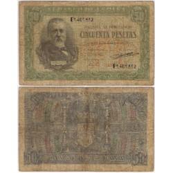 Estado Español. 1940. 50 Pesetas (RC+) Serie E