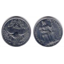 (14) Nueva Caledonia. 1990. 2 Francs (SC)
