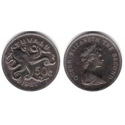 (6) Tuvalu. 1981. 50 Cents (EBC+)