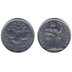 (16) Nueva Caledonia. 1990. 5 Francs (SC)
