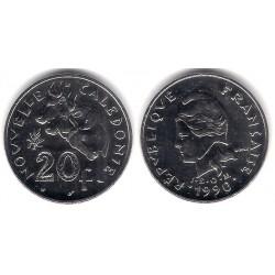 (12) Nueva Caledonia. 1990. 20 Francs (SC)