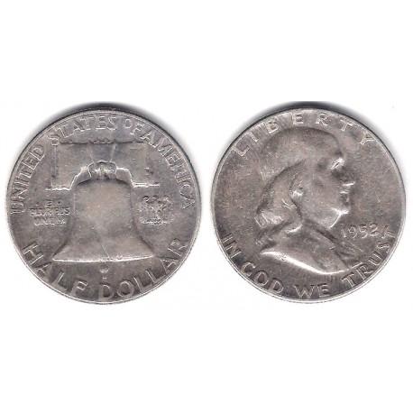 (199) Estados Unidos de América. 1952. Half Dollar (MBC) (Plata)